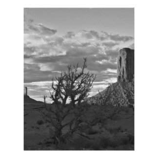 Monument Valley (black and white) 3 21.5 Cm X 28 Cm Flyer