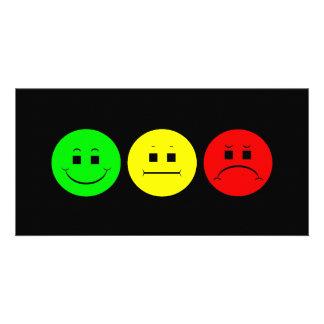 Moody Stoplight Trio Lefty Green Photo Card Template