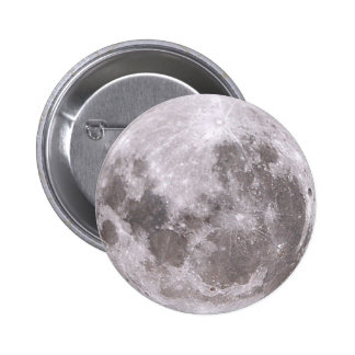 moon 6 cm round badge