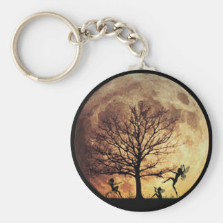 Moon Dance Basic Round Button Key Ring