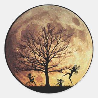 Moon Dance Round Sticker
