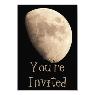 Moon Invitations Personalized Moon RSVP Cards
