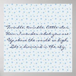 Moon & Stars (Twinkle Twinkle little Star) Poster