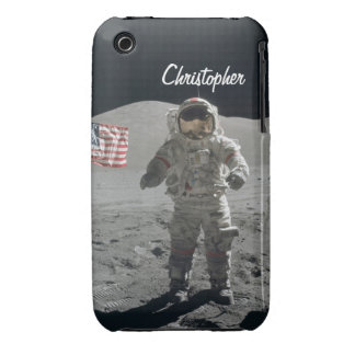 Moon walk astronaut space custom boys name Case-Mate iPhone 3 cases