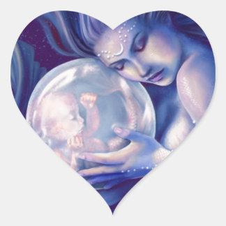 Moonborn - Mermaid and Baby Heart Sticker