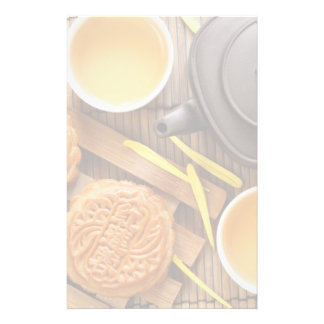 Mooncake and tea,Chinese mid autumn festival 2 Personalized Stationery