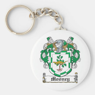 Mooney Family Crest Basic Round Button Key Ring