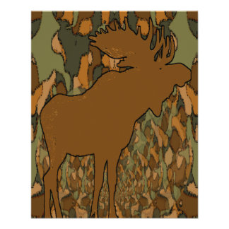 Moose Camouflage Gifts and Invitations 11.5 Cm X 14 Cm Flyer