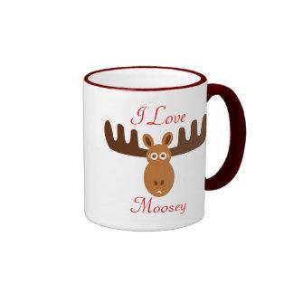 Moose Head_I Love Moosey Ringer Mug