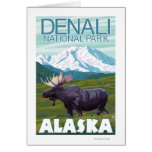 Moose Scene - Denali National Park, Alaska Greeting Card