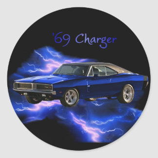 Mopar:  '69 Dodge Charger Round Sticker