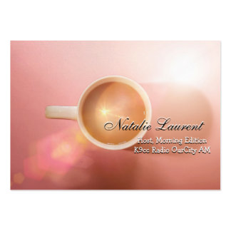 """Morning Java Elegant  Professional 3.5"""" x 2.5"""" Pack Of Chubby Business Cards"""