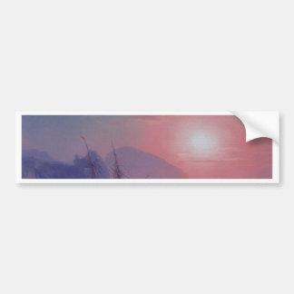 Morning Sunrise in the Fog Bumper Sticker