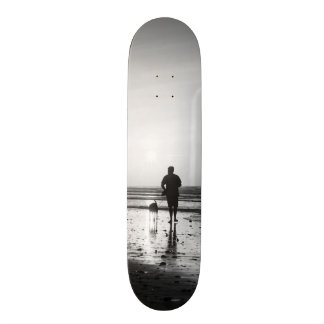 Morning Walk Grayscale 19.7 Cm Skateboard Deck