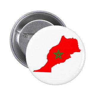 morocco country flag map shape symbol 6 cm round badge