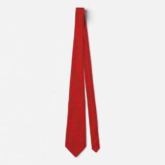 Morocco Flag Honeycomb Tie