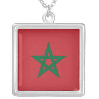 Morocco Flag Necklace