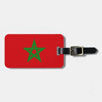 Morocco Flag Travel Bag Tags