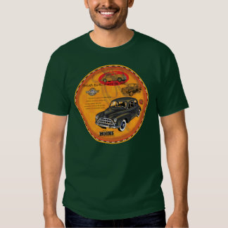 Morris Minor car vintage sign T Shirts