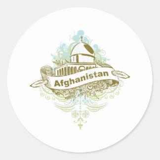 Mosque Afghanistan Round Sticker