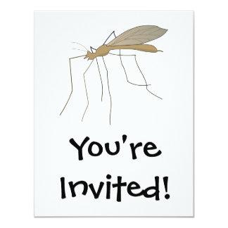 mosquito crane fly 11 cm x 14 cm invitation card