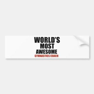 Most awesome GYMNASTICS COACH Bumper Sticker