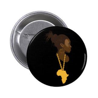 Mother Africa 6 Cm Round Badge