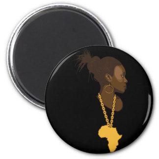 Mother Africa 6 Cm Round Magnet