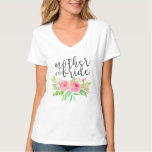 mother of the bride floral tee shirt