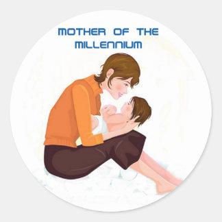 Mother of the Millennium Round Sticker