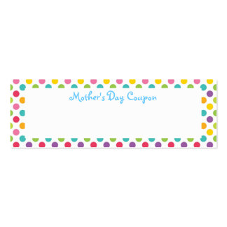 Mother's Day Coupons Pack Of Skinny Business Cards