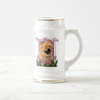 Mothers Day - Pink Tulips - Chow Chow - Cinny Beer Steins