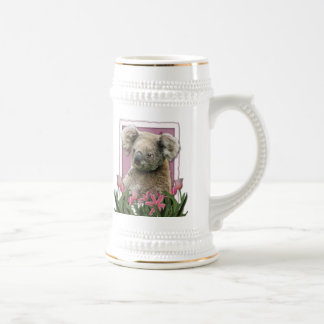 Mothers Day - Pink Tulips - Koala Beer Steins