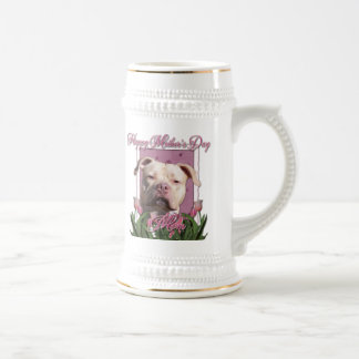 Mothers Day - Pink Tulips - Pitbull - Jersey Girl Beer Steins