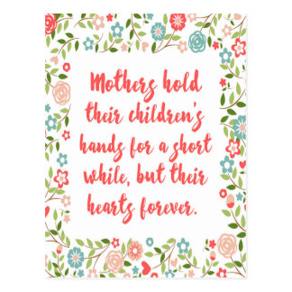 Mothers Hold Their Children Quote Postcard