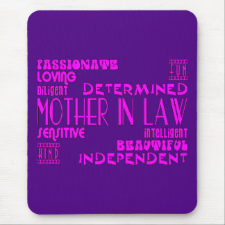 Mothers in Law Birthdays & Weddings : Qualities Mouse Pad