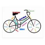 Motivational Bike, Bicycle, Cycling, Sport, Hobby Postcard