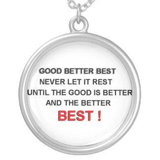 motivational message round pendant necklace