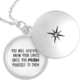 Motivational Quote: You will never know your limit Round Locket Necklace