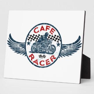 Moto racer photo plaques