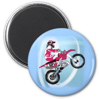 Motocross 305 6 cm round magnet