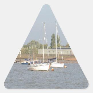 Motor Sailer Misbehave Triangle Sticker