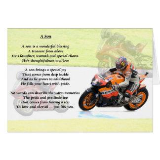 Motorbike Design - Son poem Greeting Card