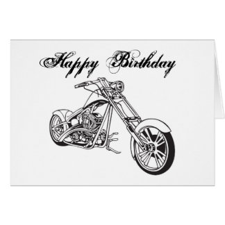 Motorcycle..2, Happy Birthday Note Card