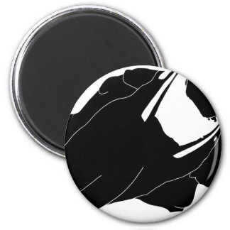 Motorcycle 6 Cm Round Magnet
