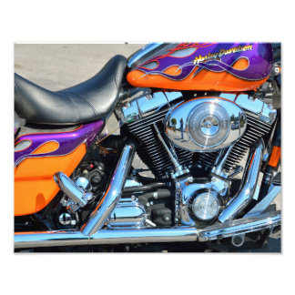 Motorcycle Engine Photograph