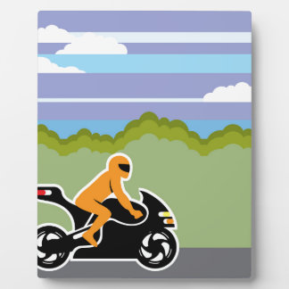 Motorcycle riding plaques