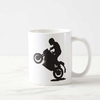 MOTORCYCLE STUNTS SPORTS  GROUND TRANSPORTATION SP BASIC WHITE MUG