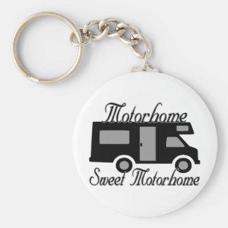 Motorhome Sweet Motorhome RV Basic Round Button Key Ring