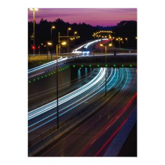 Motorway lights 14 cm x 19 cm invitation card